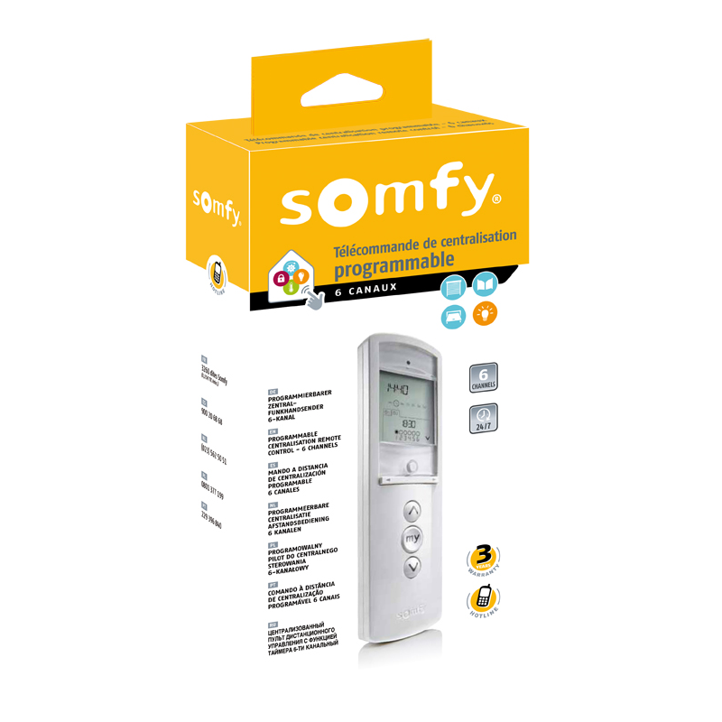 Remote Somfy Telis 6 Chronis Rts Pure Na Best Christmas Gift